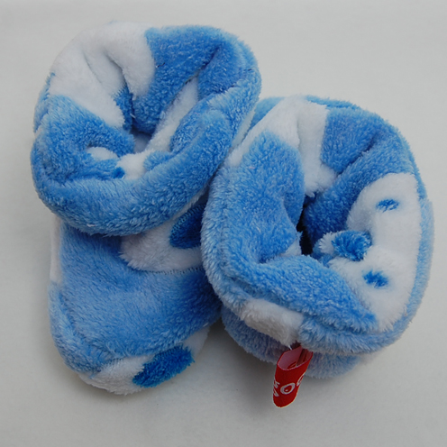 blue bear baby bootie