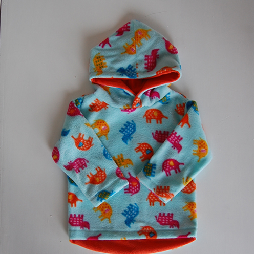 blue dinosaur fleece jacket