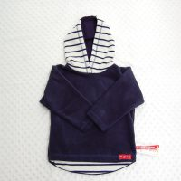navy and french stripe hoodie
