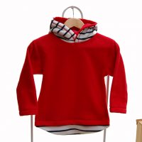 red and french stripe hoodie