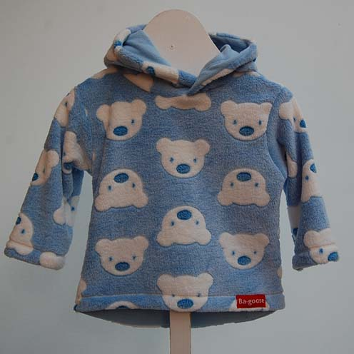 Blue bear fleece jacket