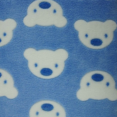 Blue bear fleece