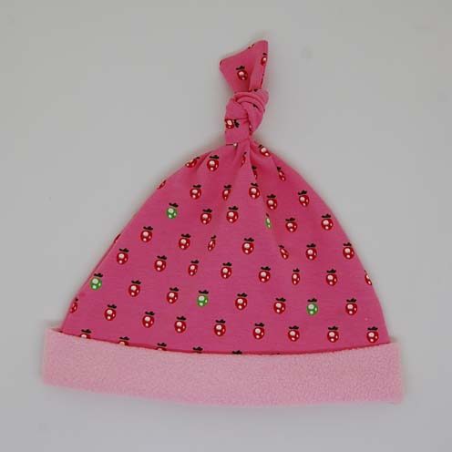 strawberry baby hat