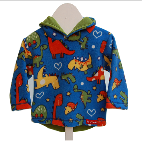 royal dino fleece jacket