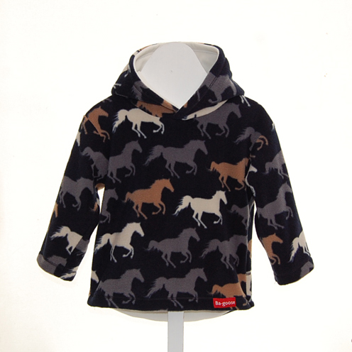 navy pony fleece
