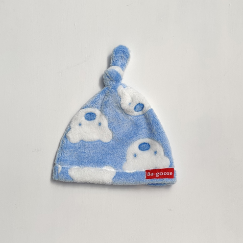 Blue bear baby fleece hat