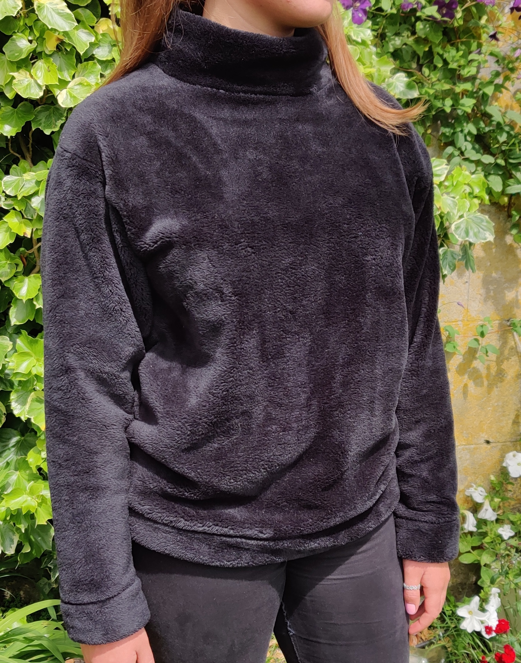 black cuddle fleece
