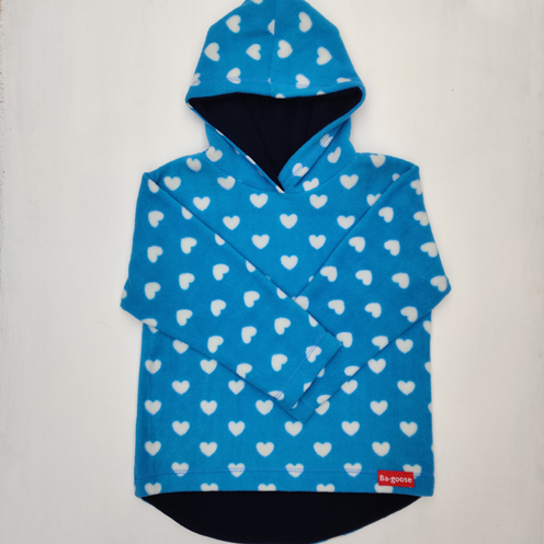 Blue heart fleece