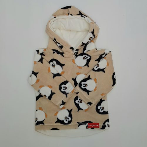 cream penguin fleece
