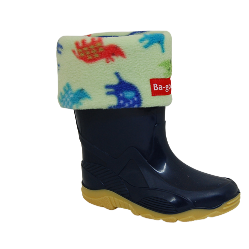 green safari wellie sock