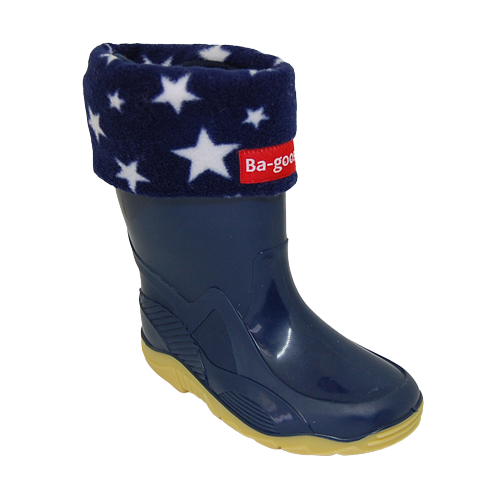 navy star wellie sock