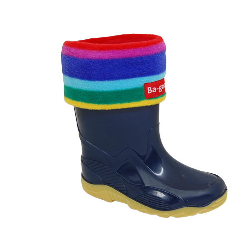 rainbow wellie sock