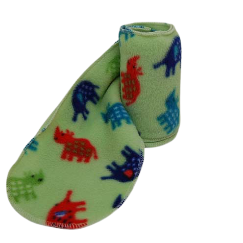 Green safari fleece scarf