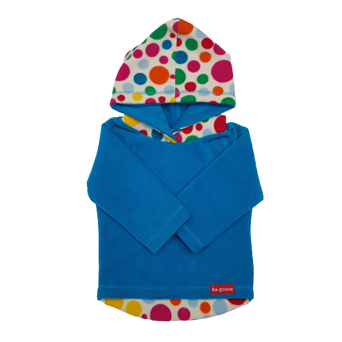 teal and spot hood