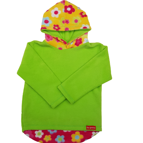 lime and flower hoodie