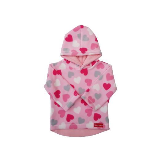soft pink heart fleece