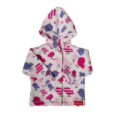 birds baby jacket