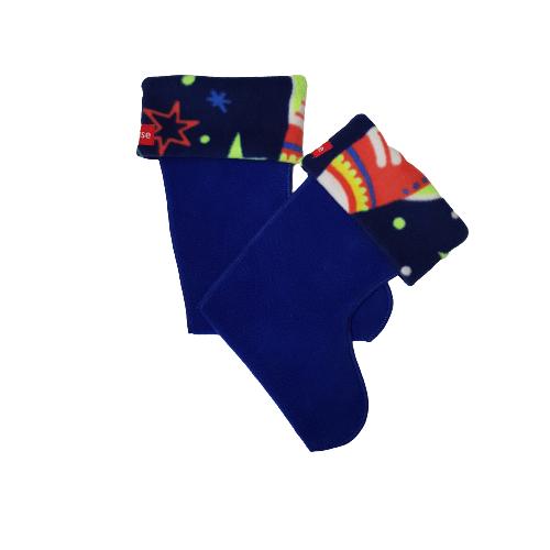 space rocket wellie sock