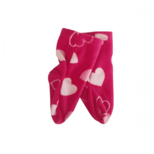 white heart sling sock